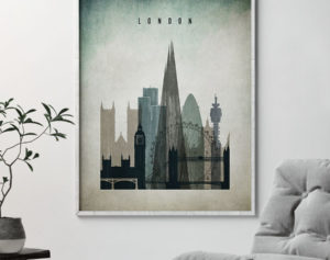 London poster distressed 3 second