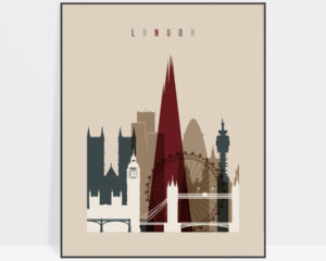 London poster earth tones 2