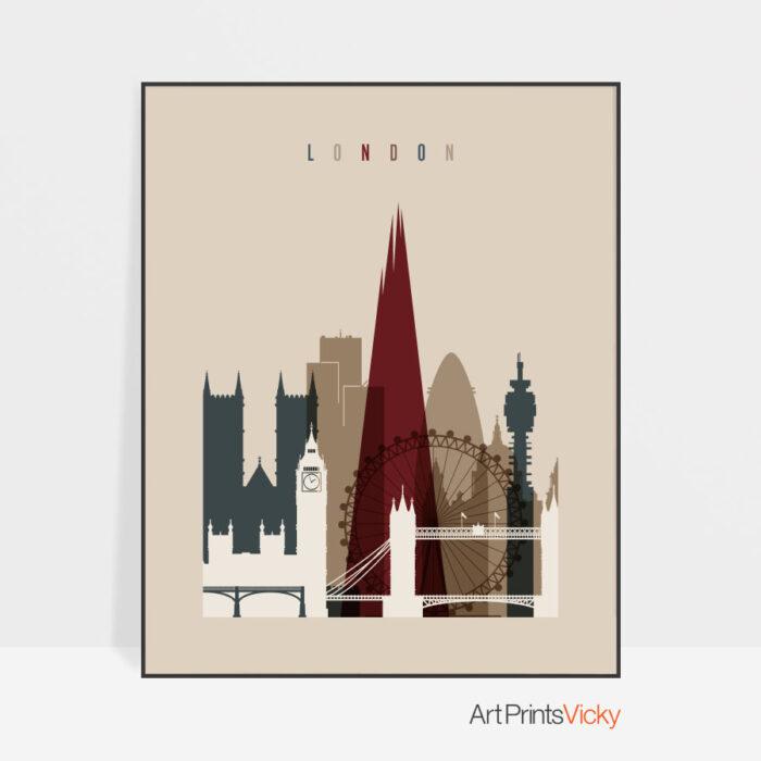 London poster earth tones 2