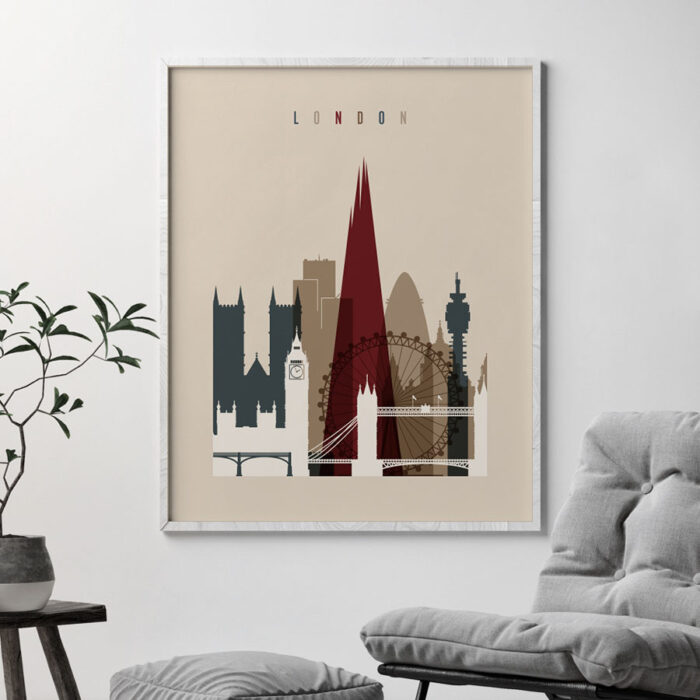 London poster earth tones 2 second