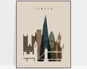 London art print earth tones 3