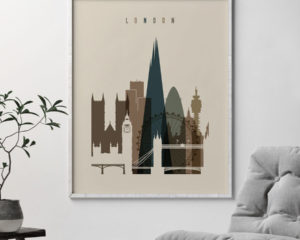 London art print earth tones 3 second