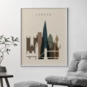 London art print earth tones 3 second