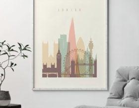 london poster skyline pastel second photo at artprintsvicky.com
