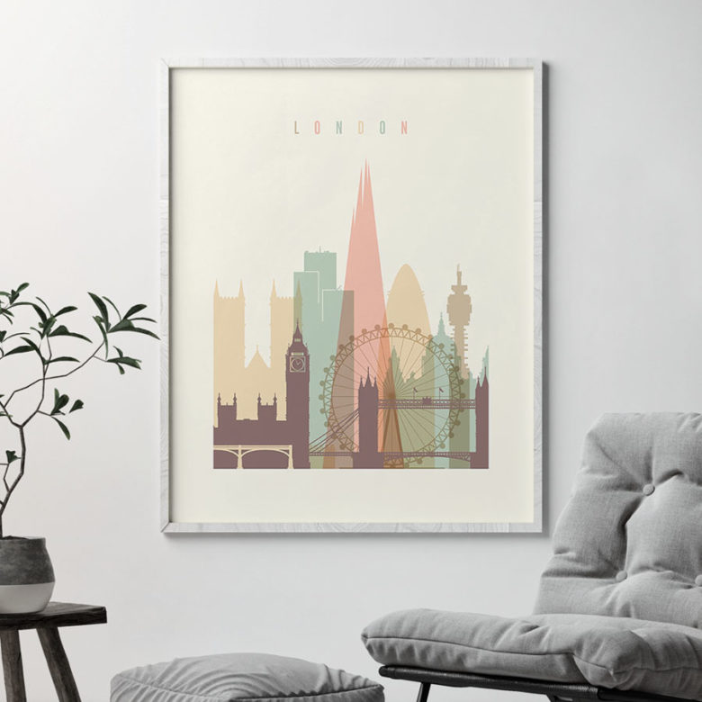 london poster skyline pastel second photo at artprintsvicky.com