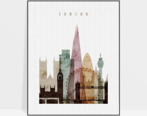 London poster watercolor 1