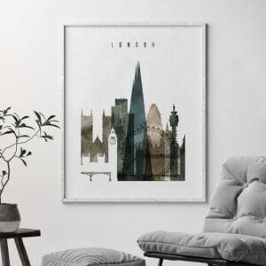 London skyline cityscape art watercolor 2 second