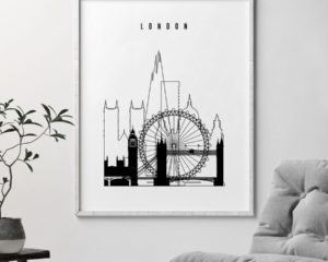 London poster black and white second