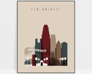 Los Angeles poster earth tones 2