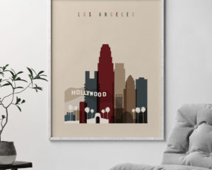 Los Angeles poster earth tones 2 second