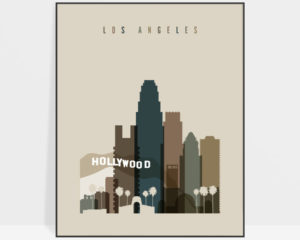 Los Angeles art print earth tones 3