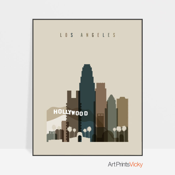 Los Angeles art print earth tones 3