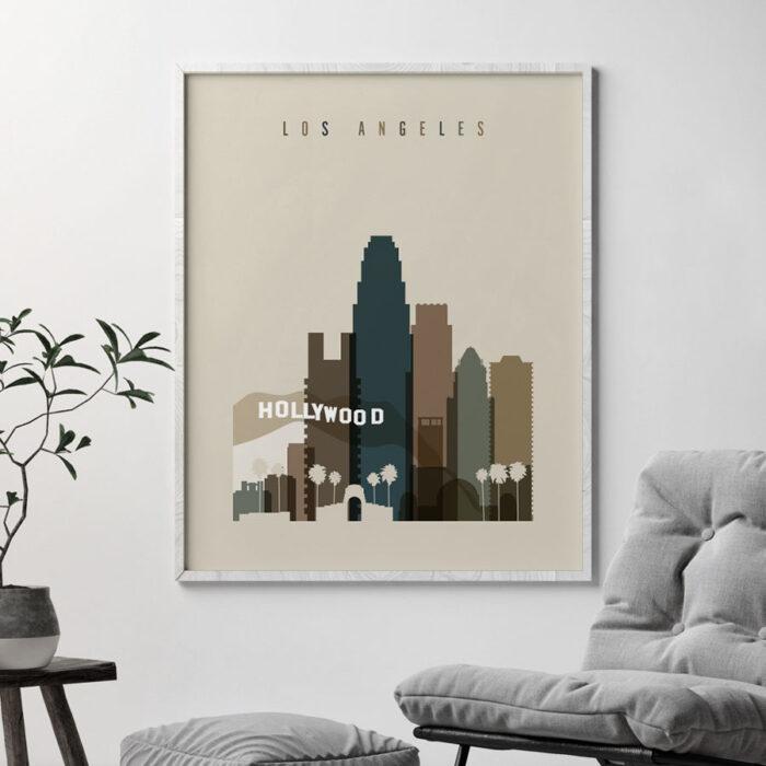 Los Angeles art print earth tones 3 second