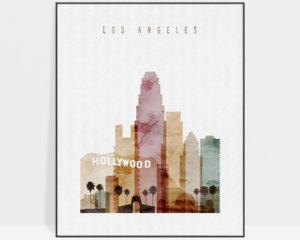 Los Angeles art print watercolor 1