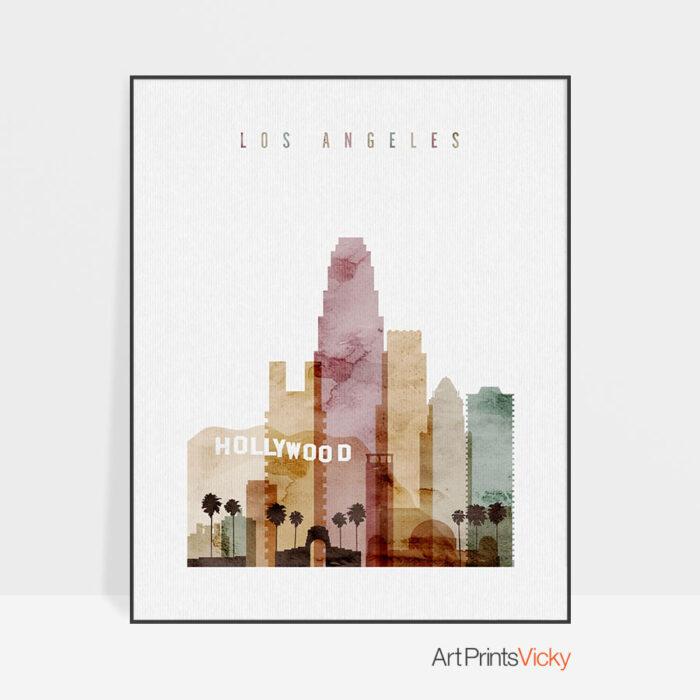Los Angeles art print watercolor 1