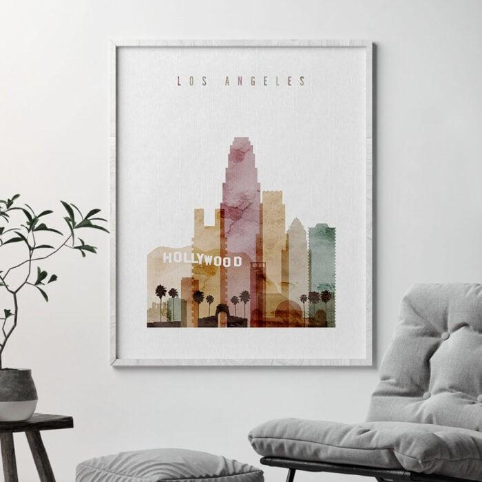 Los Angeles art print watercolor 1 second