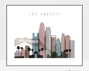 Los Angeles print landscape distressed 1