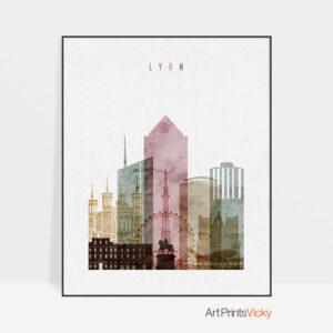 Lyon poster watercolor 1