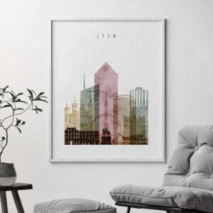 Lyon poster watercolor 1 second