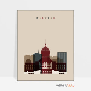 Madison poster earth tones 2