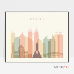 Manila poster pastel cream landscape