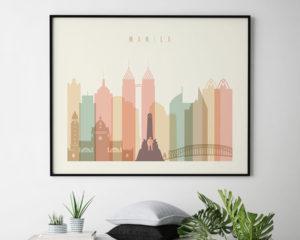 Manila poster pastel cream landscape second