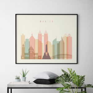 Manila poster pastel cream landscape second