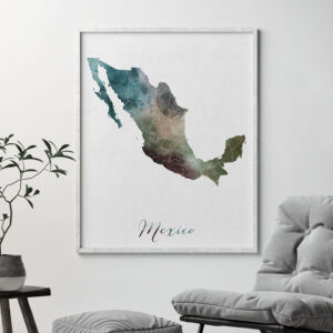 Mexico map print second