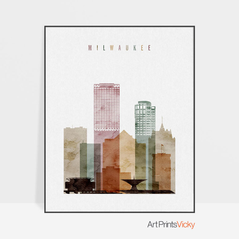 Milwaukee poster watercolor 1