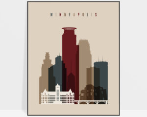 Minneapolis poster earth tones 2