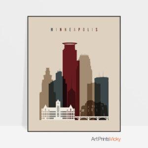 Minneapolis poster earth tones 2