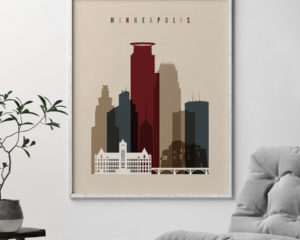 Minneapolis poster earth tones 2 second