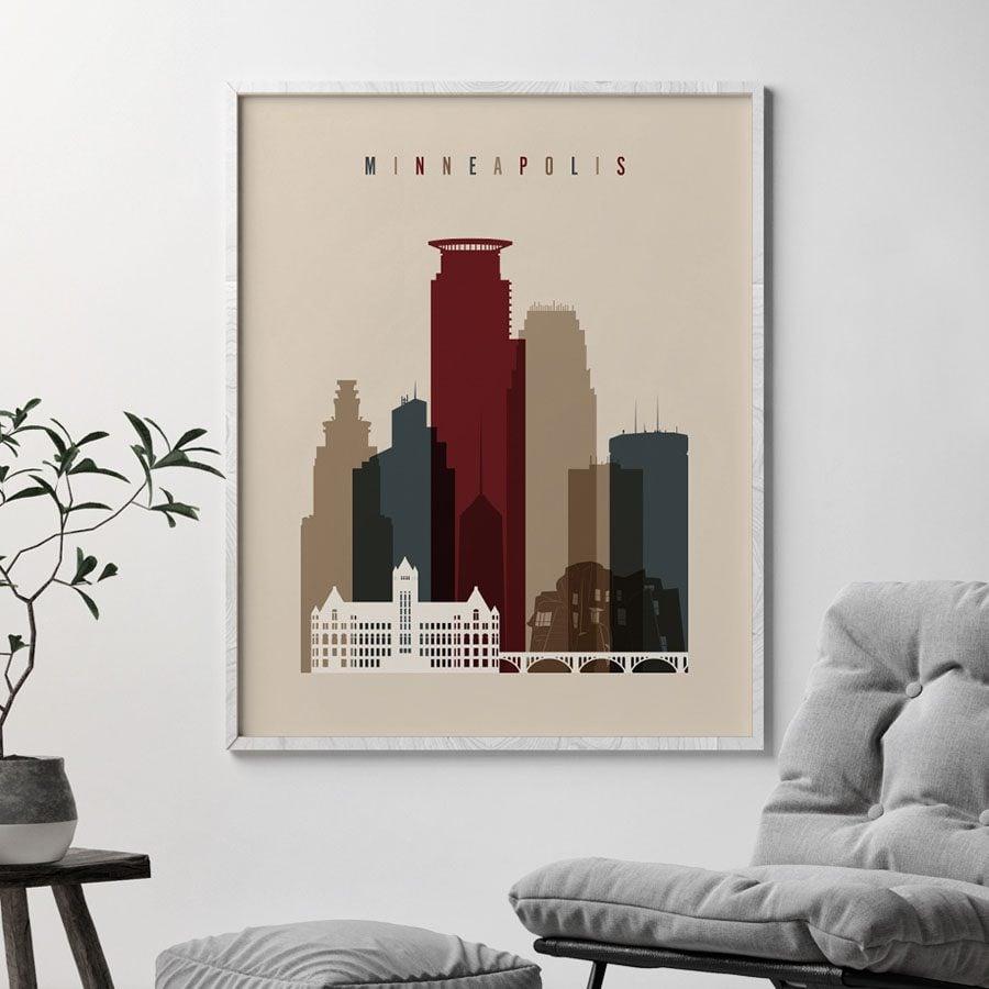 Minneapolis poster earth tones 2 second