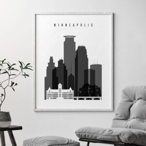 Minneapolis black and white poster second