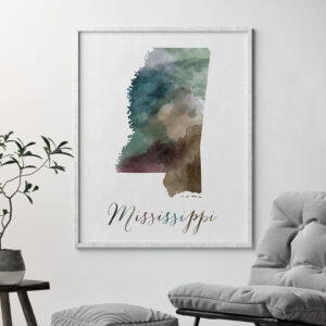 Mississippi State map print second