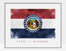 Missouri State flag art print