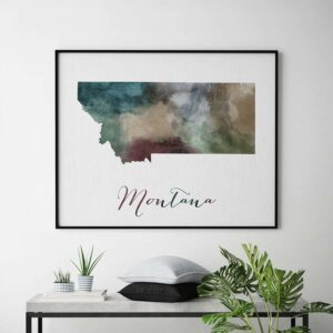 Montana State map print second