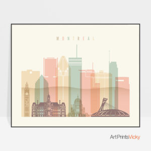Montreal poster pastel cream landscape