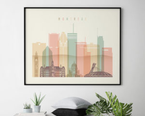 Montreal poster pastel cream landscape second