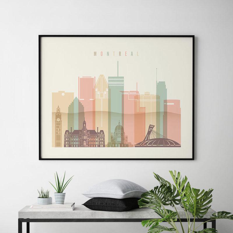 Montreal poster pastel cream landscape second