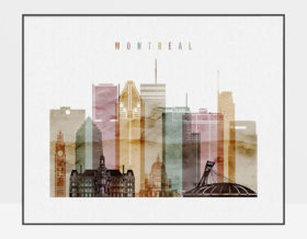 Montreal poster watercolor 1 landscape