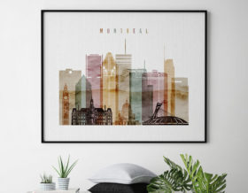 Montreal poster watercolor 1 landscape second