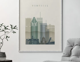 montreal print skyline earth tones 1 second photo at artprintsvicky.com