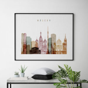 Moscow poster watercolor 1 landscape second
