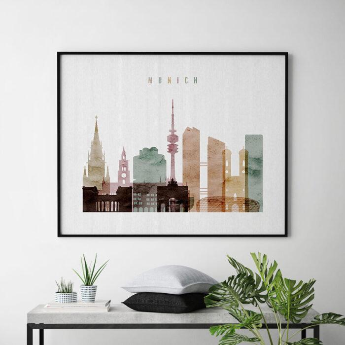Munich poster watercolor 1 landscape second