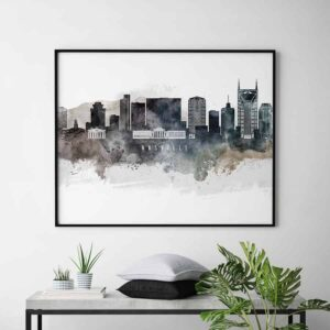 Nashville art poster watercolor second