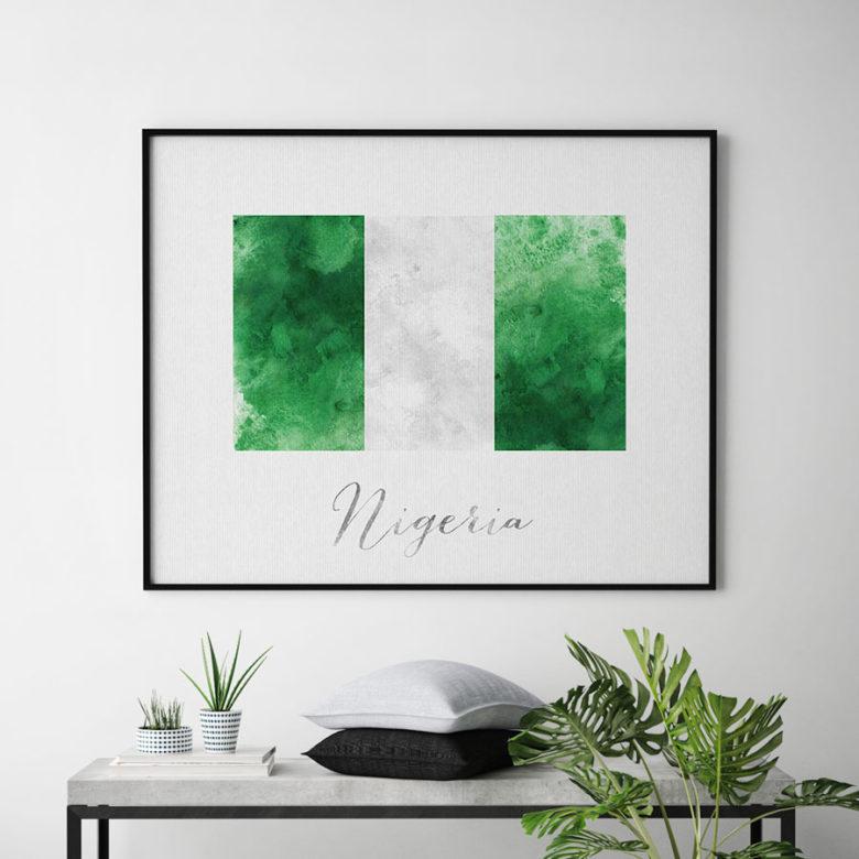 Nigeria flag art print second