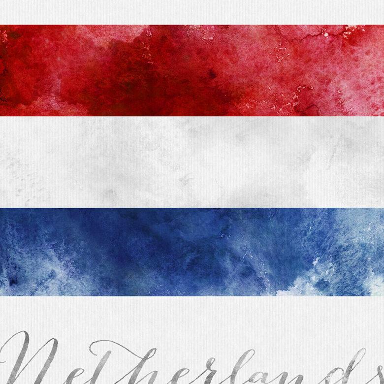 Netherlands flag art print detail