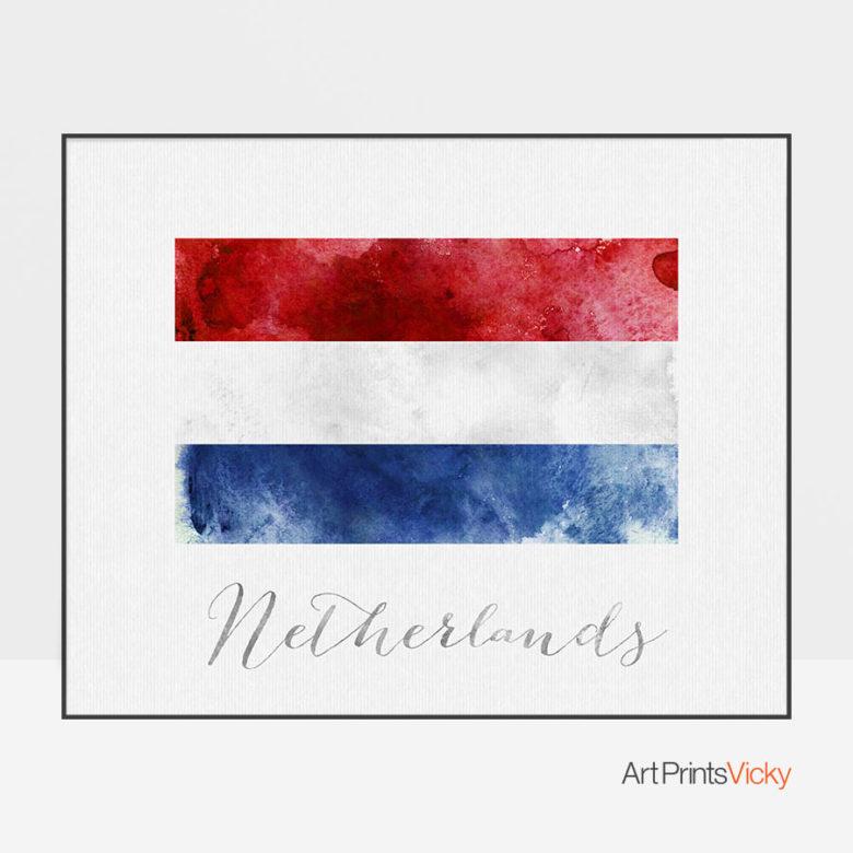Netherlands flag art print
