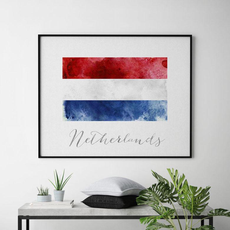 Netherlands flag art print second